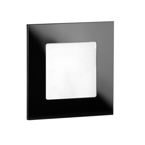 LDST AN-01-CB-BC9 - LED iluminat scară ANGEL 9xLED/1,2W/230V negru lucios 3500K