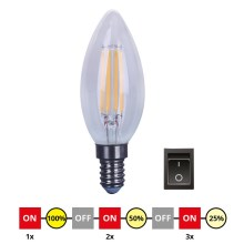 LED Bec dimmabil E14/4W/230V C35