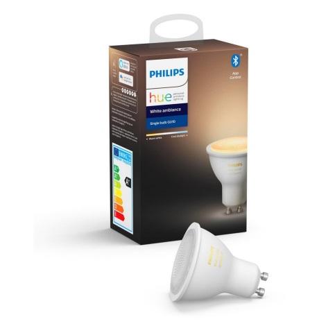 LED Bec dimmabil Philips Hue WHITE AMBIANCE 1xGU10/5,5W/230V 2200-6500K