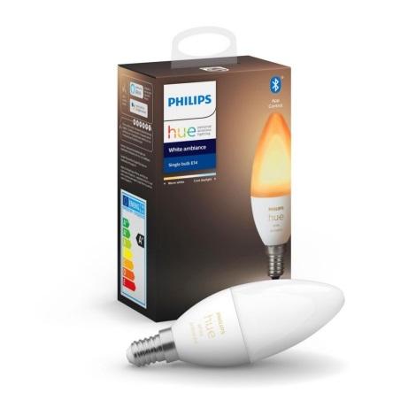 LED Bec dimmabil Philips Hue WHITE AMBIANCE B39 E14/5,2W/230V 2200K - 6500K
