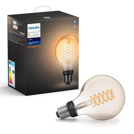 LED Bec dimmabil Philips Hue WHITE FILAMENT G93 E27/7W/230V 2100K