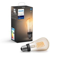 LED Bec dimmabil Philips HUE WHITE FILAMENT ST64 E27/7W/230V 2100K