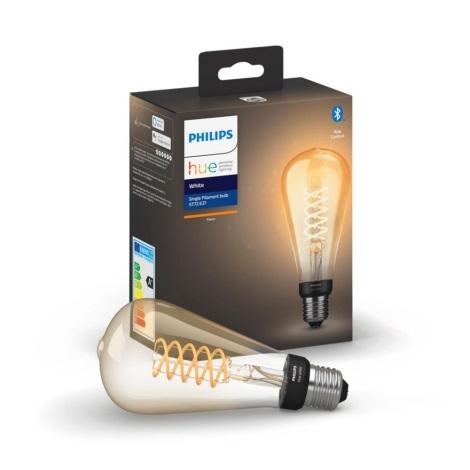 LED Bec dimmabil Philips HUE WHITE FILAMENT ST72 E27/7W/230V 2100K