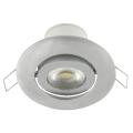 LED corp de iluminat incastrabil inclinat LED/7W argintiu