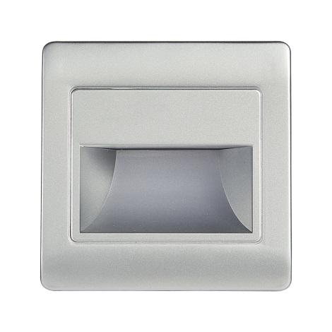 LED iluminat scară cu senzor STEP LIGHT NET LED/1,5W/110-256V argintiu