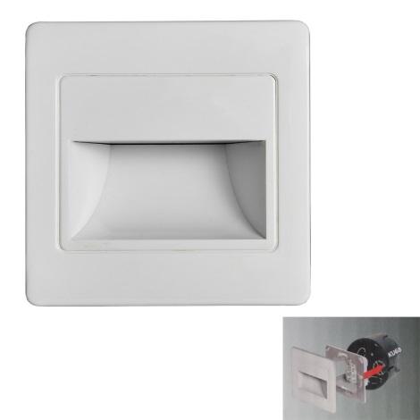 LED Iluminat scară STEP LIGHT LED/1,5W/230V alb