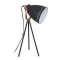LED Lampă de masă 1xE27/8W/230V negru 52cm