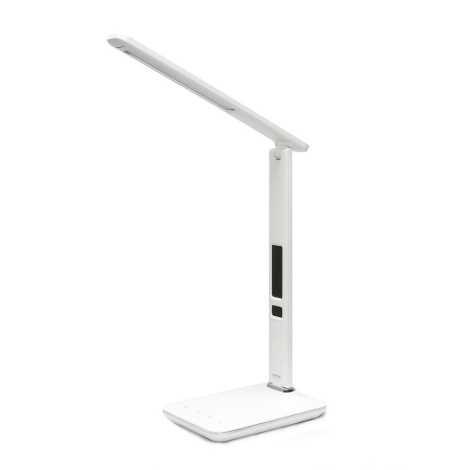 LED lampa de masa cu display LED/9W/230V alba