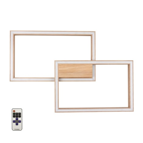 LED Lampă dimmabilă RAMME LED/48W/230V + Telecomandă stejar mat