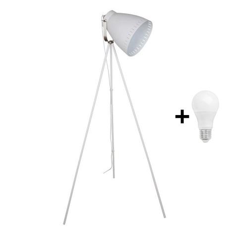 LED Lampadar 1xE27/8W/230V alb 145cm