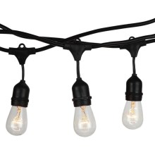 LED Lanț exterior STRING 15m 15xE27/40W/230V IP65