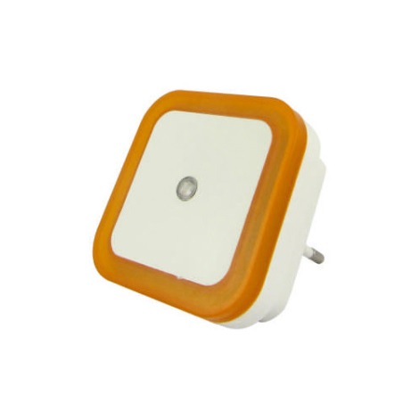 LED Lumină de noapte cu senzor LED/0,5W/230V portocaliu