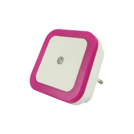 LED Lumină de noapte cu senzor LED/0,5W/230V roz