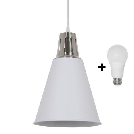 LED Lustră 1xE27/10W/230V alb 22cm