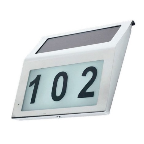 LED Număr casă solar 1,2V IP44