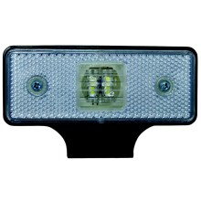 LED Reflector de lumină SINGLE LED/0,2W/12-24V IP67 argintiu