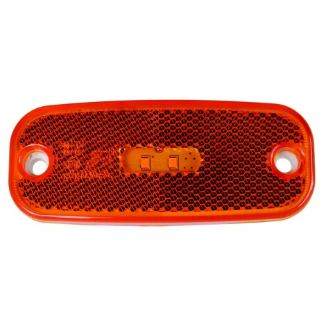 LED Reflector de lumină SINGLE LED/0,2W/12-24V IP67 portocaliu
