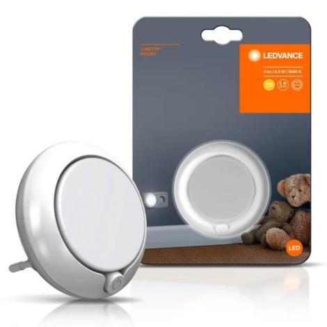 Ledvance - LED Lumină de noapte cu senzor LUNETTA LED/0,3W/230V