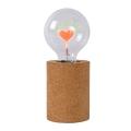 Lucide 03517/03/43 - Lampă de masă LED CORKY - I LOVE YOU 1xE27/3W/230V