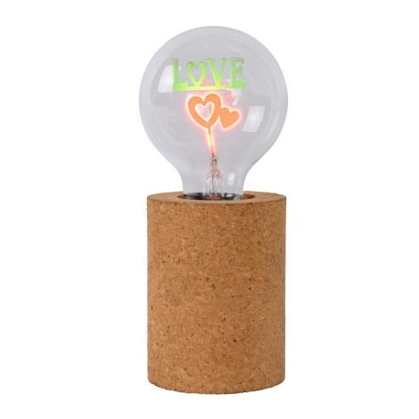 Lucide 03518/03/43 - Lampă de masă LED CORKY - LOVE 1xE27/3W/230V