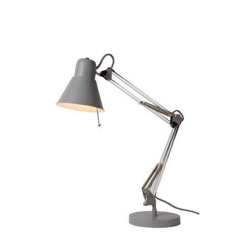 Lucide 03602/01/36 - Lampa de masa TERRA 1xE27/60W/230V gri