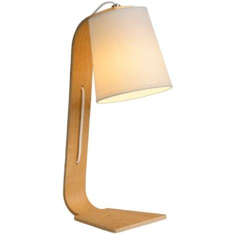 Lucide 06502/81/31 - Lampa de masa NORDIC 1xE14/40W/230V alb