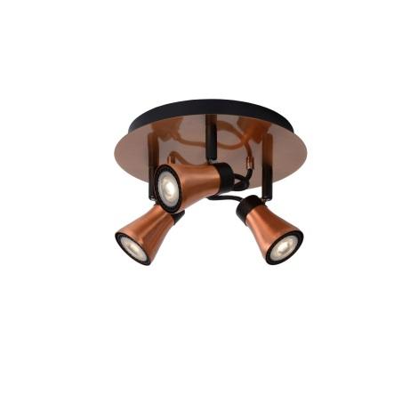 Lucide 17992/14/17 - Lampa spot LED BOLO 3xGU10/4,5W/230V cupru 23 cm