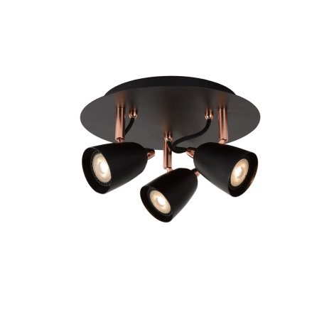 Lucide 26956/15/17 - Lampa spot LED RIDE-LED 3xGU10/5W/230V cupru