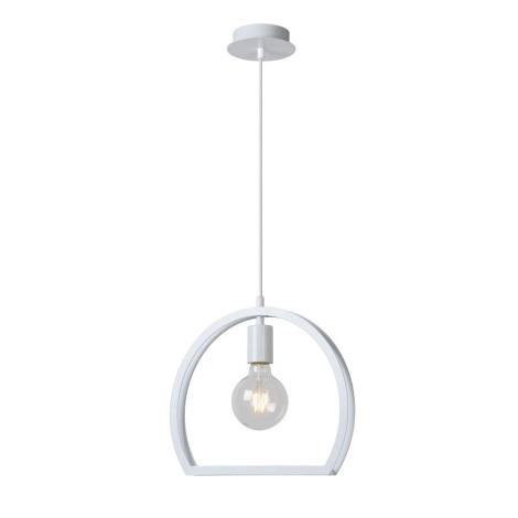 Lucide 34418/27/31 - Lampa suspendata CONTOUR 1xE27/60W/230V alba 34 cm
