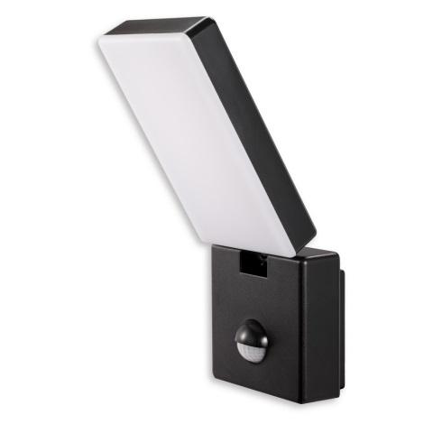 Lumina de top Faro C PIR - Spot LED cu senzor FARO LED/15W/230V IP65 negru