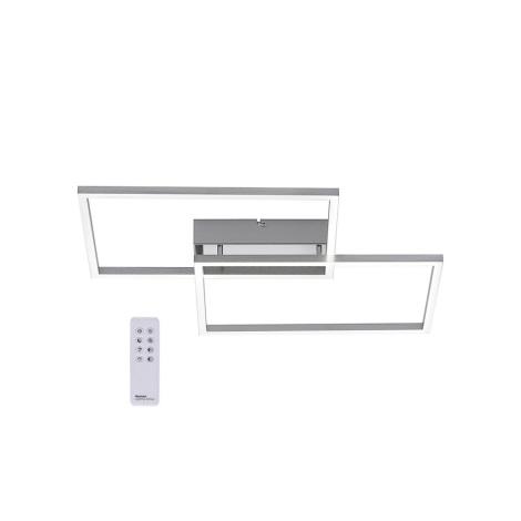 Lustră LED aplicată dimabilă IVEN 2xLED/15W/230V Leuchten Direkt 14018-55 + telecomandă