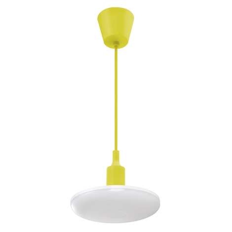 Lustră LED pe cablu ALBENE 1xE27/18W/230V galben