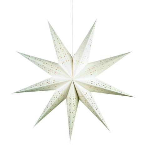 Markslöjd 700321 - Decorațiune de crăciun SOLVALLA 1xE14/25W/230V alb 100 cm
