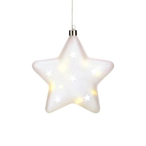 Markslöjd 704489 - Decorațiune de crăciun LED LISETTE 10xLED/0,3W/3xAA stea
