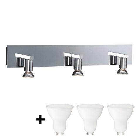 Massive 34027/11/10 - LED Aplică perete HORIZON 3xGU10/6W + 3xGU10/50W