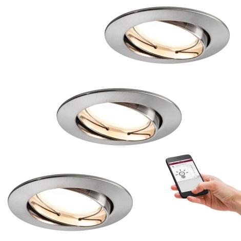 Paulmann 50007 - SET 3xLED/5,2W Lampă încastrată dimmabilă SMART HOME 230V Bluetooth