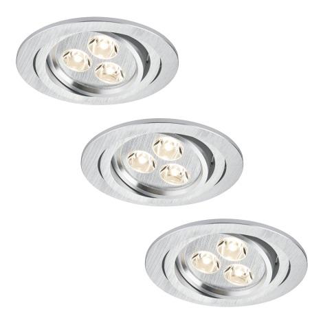 Paulmann 92530 - SET 3xLED/3W Lampă încastrată baie PREMIUM LINE 230V