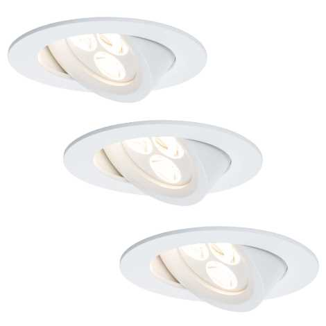 Paulmann 92689 - SET 3xLED/7,5W Lampă încastrată dimmabilă PREMIUM LINE 230V
