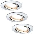 Paulmann 92780 - SET 3xLED/6,8W Lampă încastrată baie COIN 230V