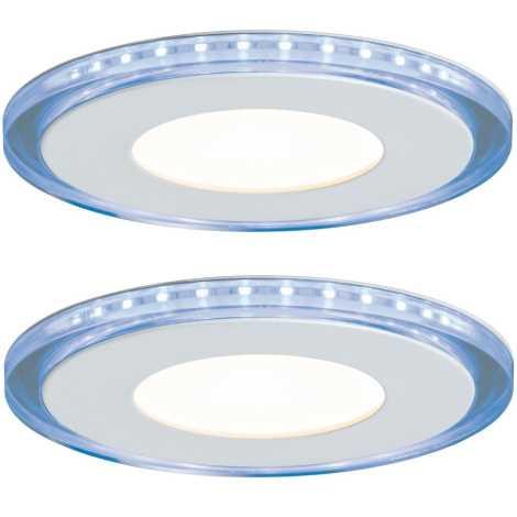 Paulmann 92796 - SET 2x LED Lampă încastrată LED LINE 2xLED/7W/230V