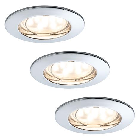 Paulmann 92813 - SET 3xLED-7W Lampa baie dimmabila 3xLED/7W/230V