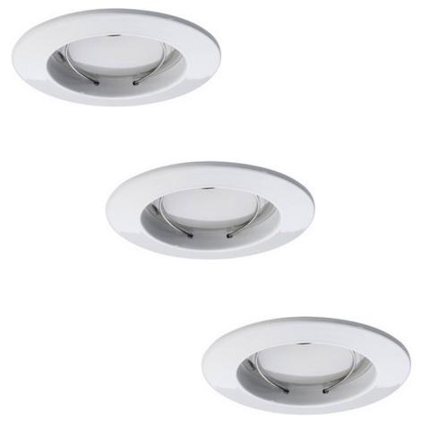 Paulmann 92823 - SET 3x LED/7W IP44 Lampă încastrată dimmabilă baie COIN 230V
