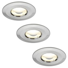 Paulmann 92849 – SET 3×LED/7W IP65 Dimmable Bathroom Light COIN 230V