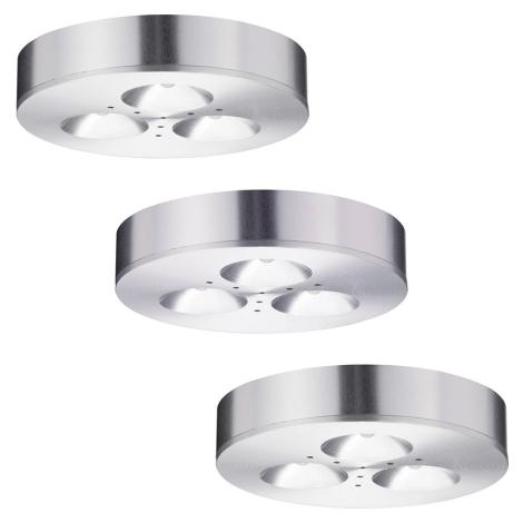 Paulmann 93546 - SET 3xLED/3W Lampă încastrată/aplicată baie PLANE 230V
