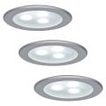 Paulmann 98351 - SET 3x LED Lampă încastrată MICRO LINE 3xLED/3W/230V