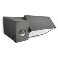 Philips 16943/93/16 - Lampă exterior cu senzor MYGARDEN BORDER 1xE27/23W/230V IP44