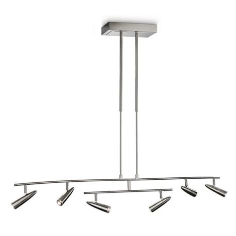 Philips 37916/17/16 - LED Lampa suspendata INSTYLE 6xLED/5W crom