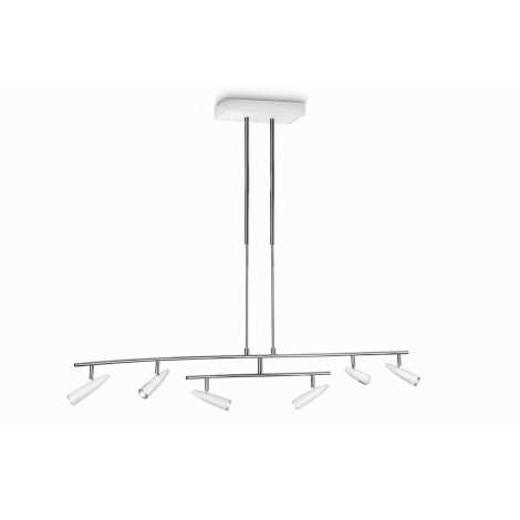 Philips 37916/31/16 - LED Lampa suspendata INSTYLE 6xLED/5W alb