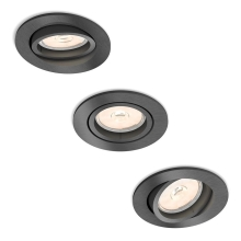 Philips 50393/99/PN - SET 3x Lampa incastrata MYLIVING DONEGAL 3xGU10/5,5W/230V
