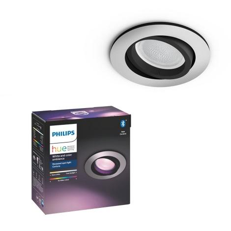 Philips 50451/48/P7 - LED RGB Lampă încastrată HUE CENTURA 1xGU10/5,7W/230V